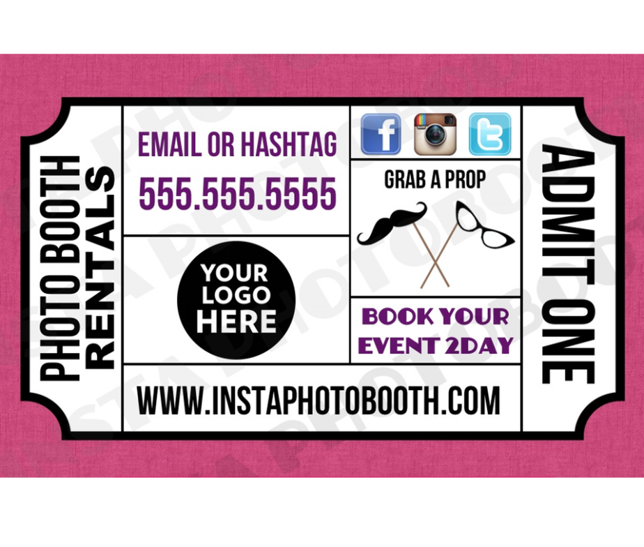 Photo Booth Card Template Home Templates Business The Ticket We Do