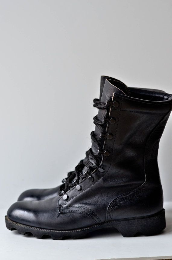 premium selection 558f5 8f56e Vintage Black Combat Boots ~ I wish I still had my Harley Boots~ I wore  them until they had holes in them )
