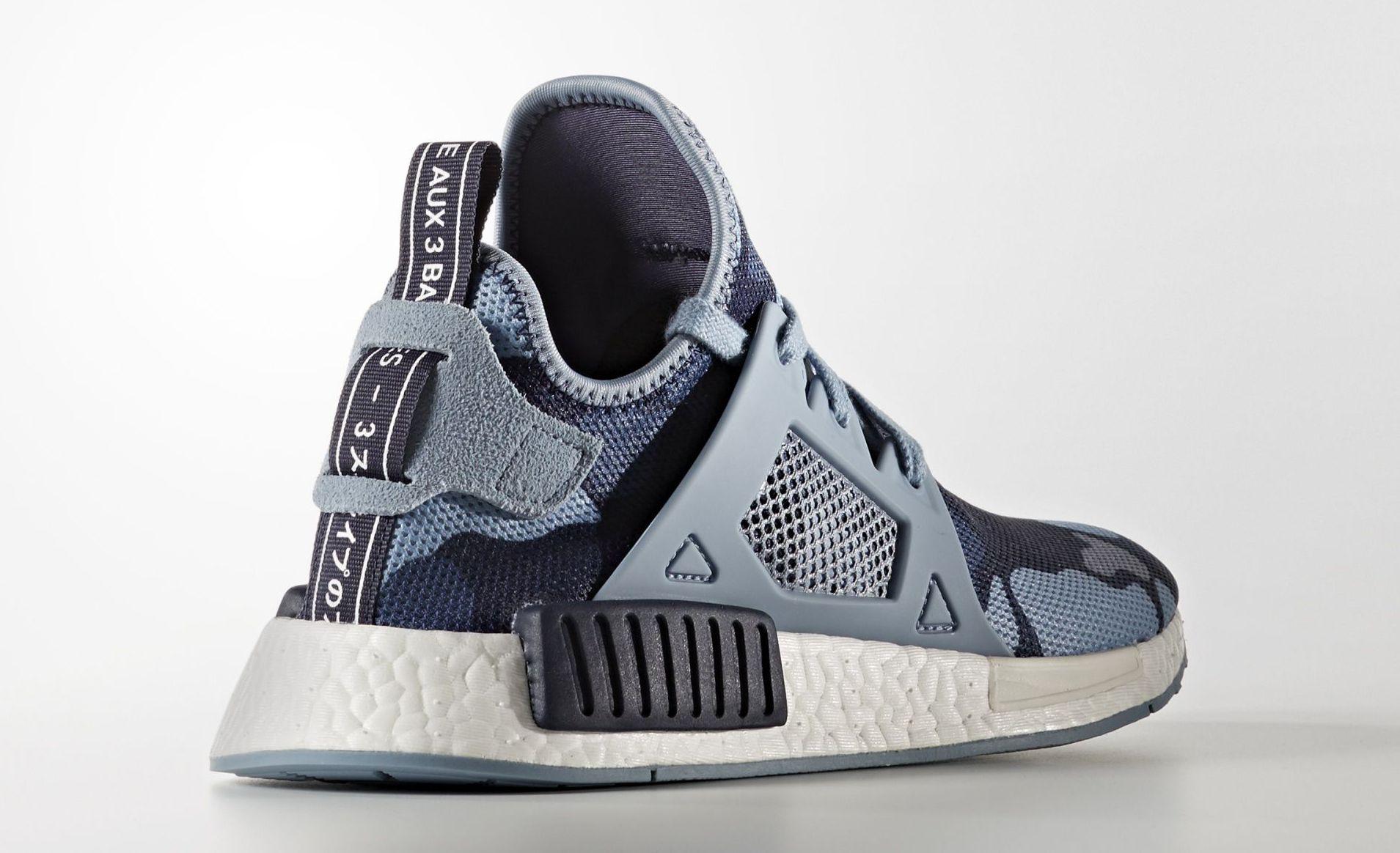 Adidas NMD XR1 Blue Camo Heel