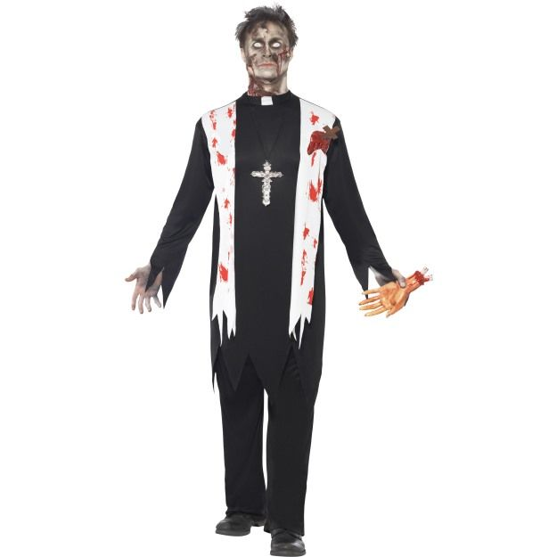Zombie Priest Costume Halloween 2016 Pinterest Priest costume - 2016 mens halloween costume ideas