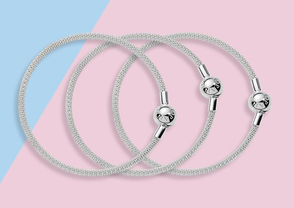 219dfde1ce415 PANDORA Silver Mesh Bracelet | #BeCharming | Pandora bracelet charms ...