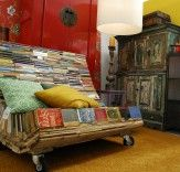 Furniture from recycled books