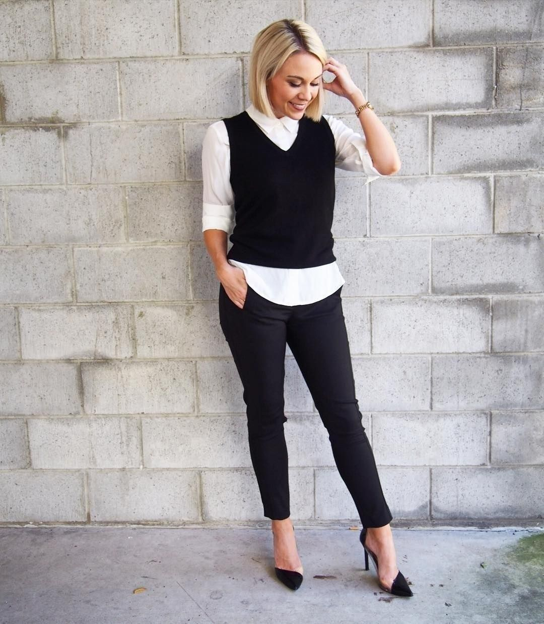 65 Cozy & Casual Office Outfits for Winter | Office casual ...