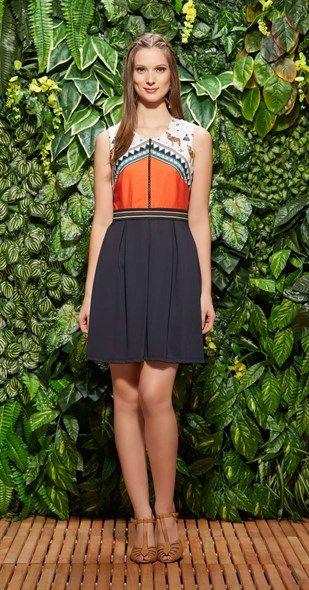Vestido América Central Elástico Pretty Dresses Lovely