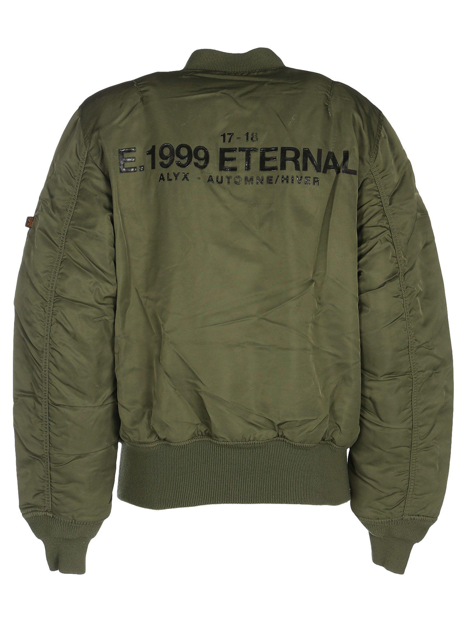 Alyx E 1999 Eternal Bomber Jacket In Green Modesens Bomber Jacket Jackets Bomber [ 2136 x 1600 Pixel ]