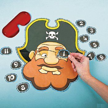PIN THE EYE PATCH ON THE PIRATE GAME ~ JOLLY ROGER