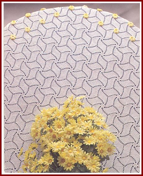 The Swirl Tablecloth - was made of mercerized crochet cotton, size
