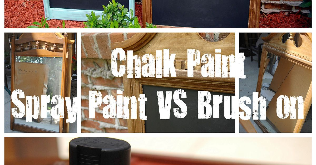 Spray Paint Vs Brush Paint Chalkboards Painting Plastic Chairs Painting Plastic Krylon Spray Paint