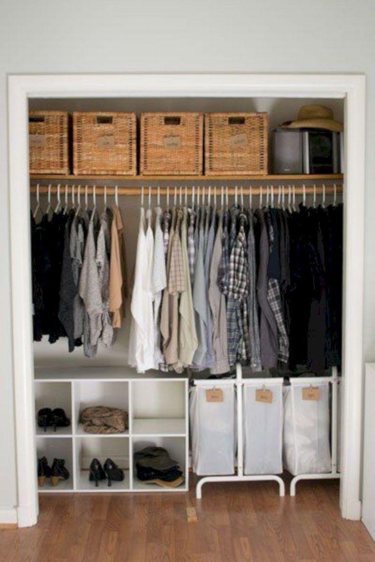 12 Gorgeous Wardrobe Storage Ideas in 12  Apartment closet