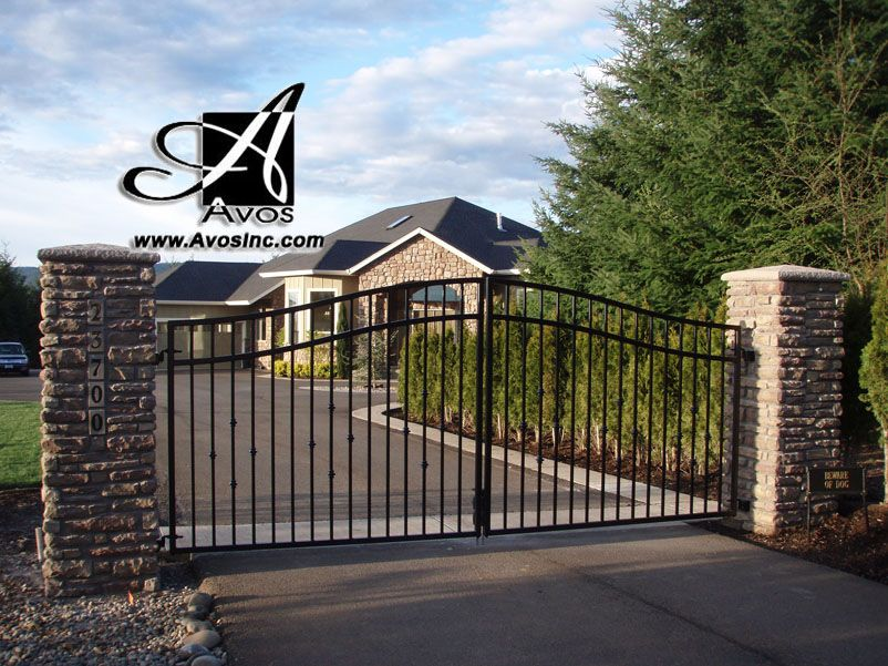 Avos Inc Gate With Knuckle Design Entry Driveway Gate