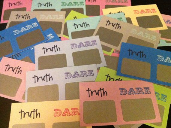 Truth Or Dare Scratchoff Cards