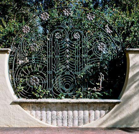Metal Gate, John Jakob Astor Estate, Miami Beach, Florida