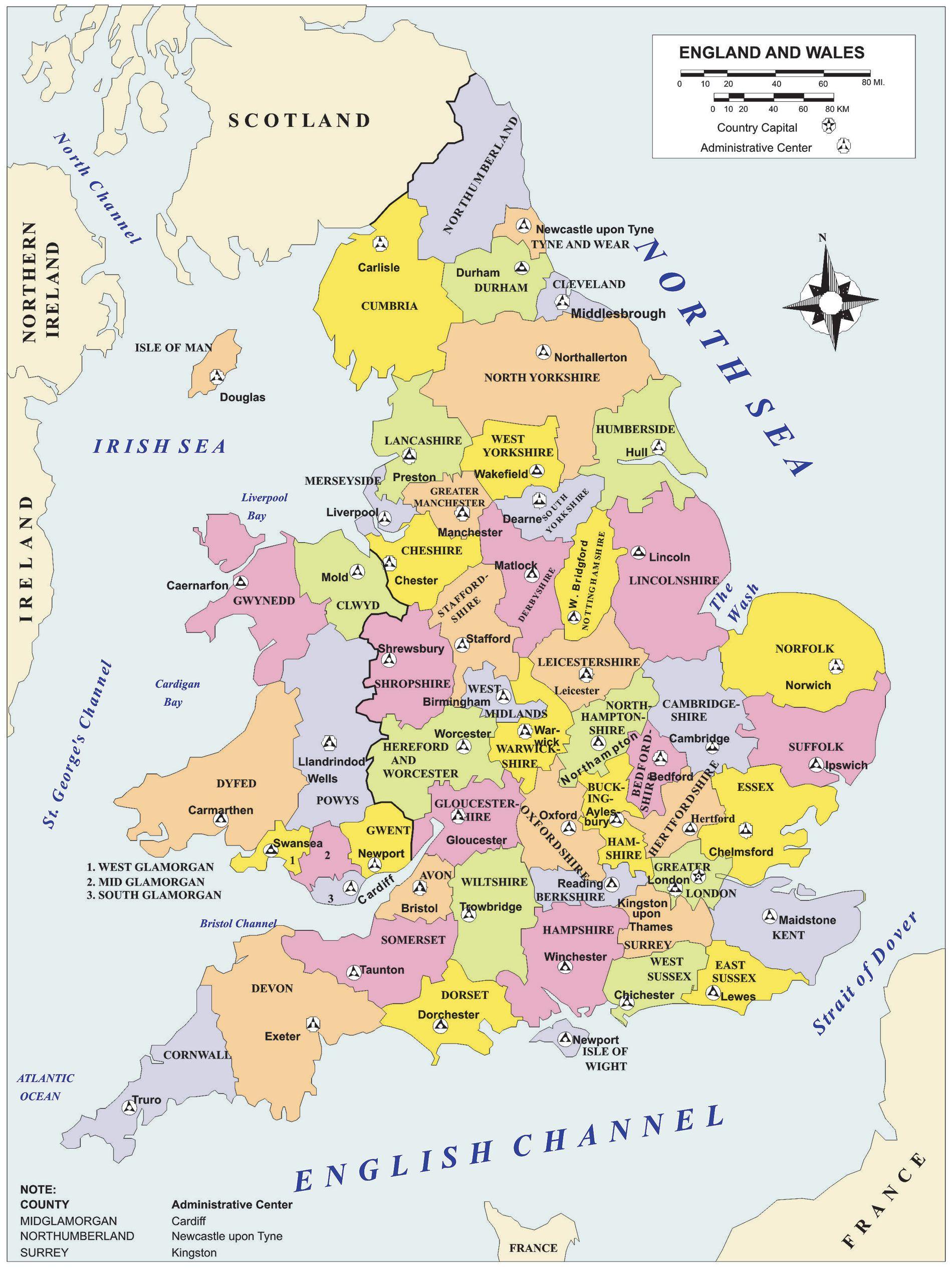 Uk Map Of England.Uk Political Map England England Map United Kingdom Map