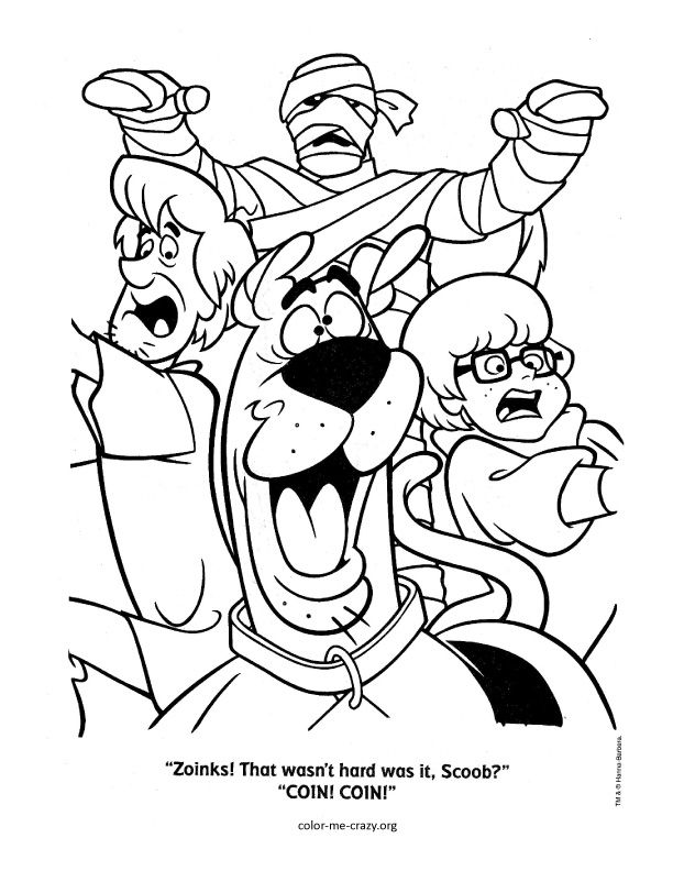 scooby doo colouring pages colormecrazyorg scooby doo coloring pages - Scooby Doo Monster Coloring Pages