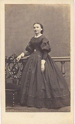 Lady Fashion Clothing France Old Photo CDV 1860' | eBay