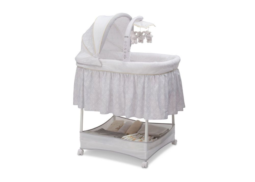 Latest Simmons Kids Elite Gliding Bassinet Peacock Baby Bed SimmonsKids Ideas - Popular portable baby sleeper Top Search
