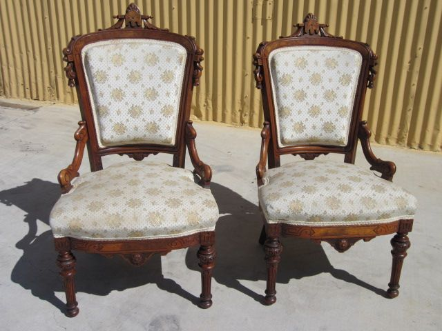 American Antique Victorian Chairs Parlor Chairs Pair Antique Furniture ~ |  Mr. Beasleyu0027s Antiques