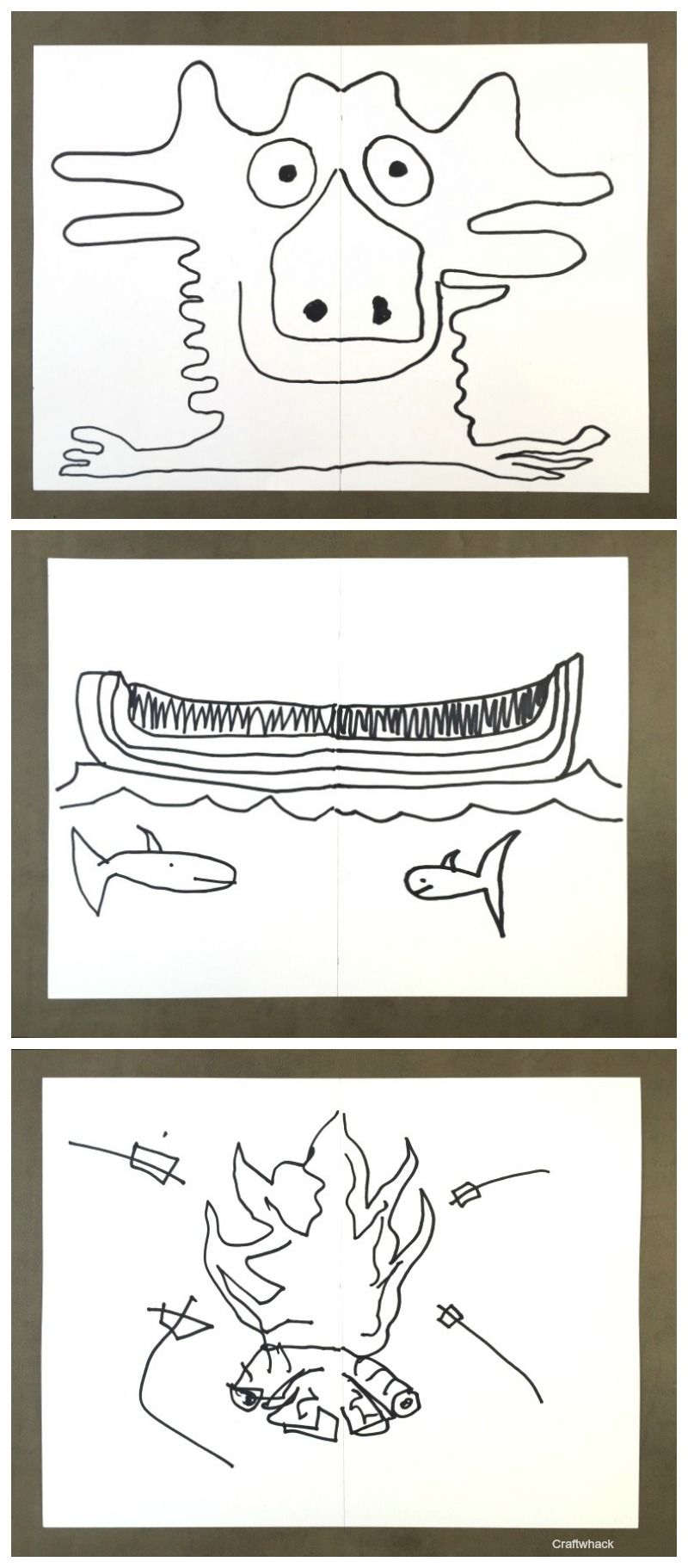Synchronized Drawing Game From My Book School Stuff Drawings