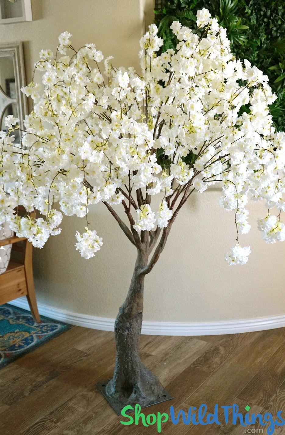 Flowering Cherry Blossom Tree Extra Full 6 Tall Cream Blossom Trees Artificial Cherry Blossom Tree Cherry Blossom Tree