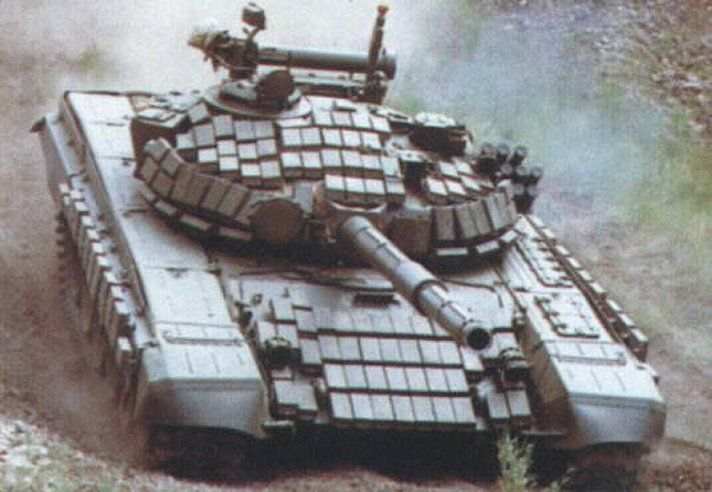 Soviet T72, 125 mm. TH - more reactive armor (if you want to ...