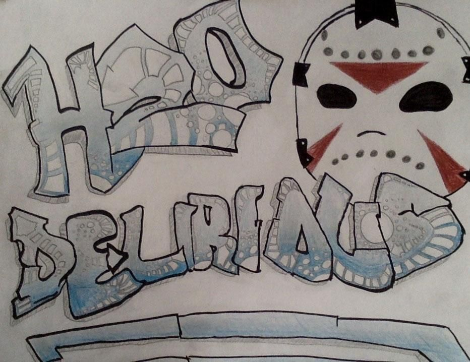 My graffiti drawing of H20 Delirious | My Pins | H20 ... H20 Delirious Drawings
