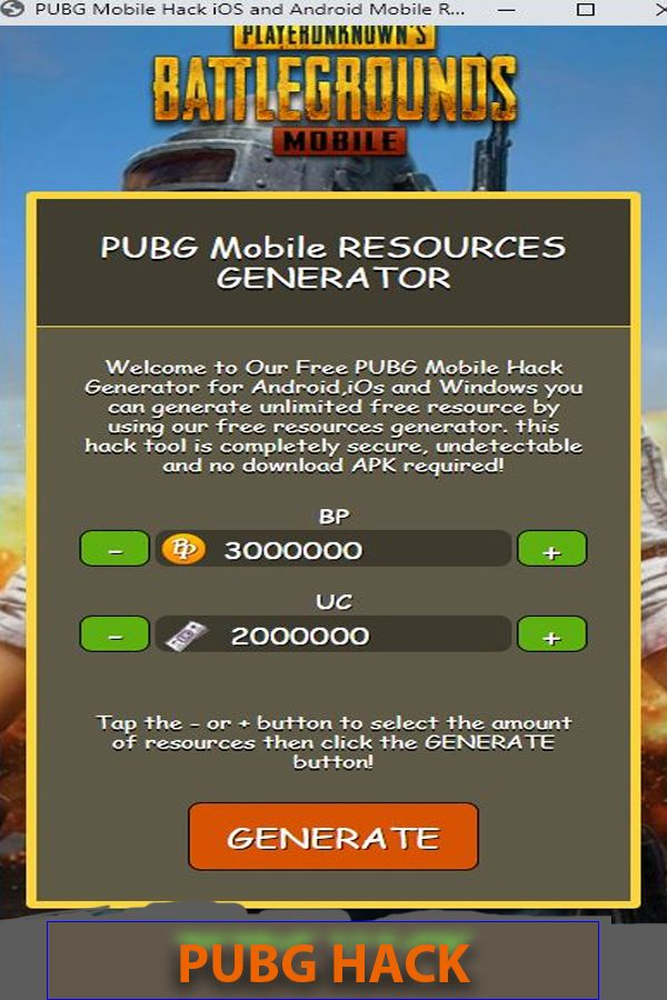 Pubg Mobile Hack Ios Pubg Mobile Free Bp And Uc Mobile Generator Android Hacks Point Hacks