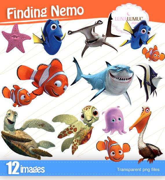 Summer Sale Finding Nemo Clipart Instant Download Png Background Files Nemo Disney Clipart Nemo Party