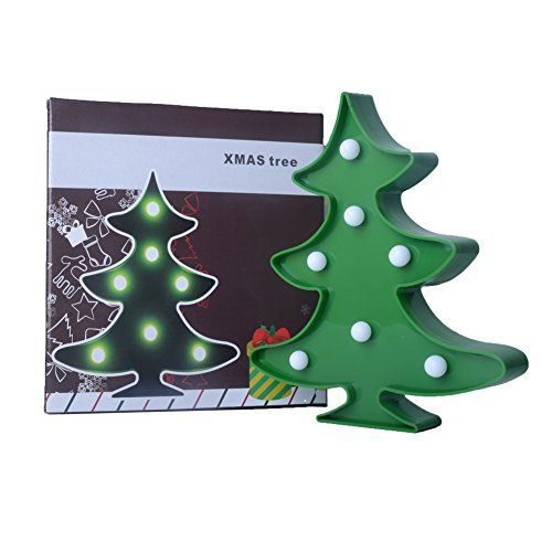 YiaMia Christmas Marquee Sign Christmas Tree LED Light,Ro...
