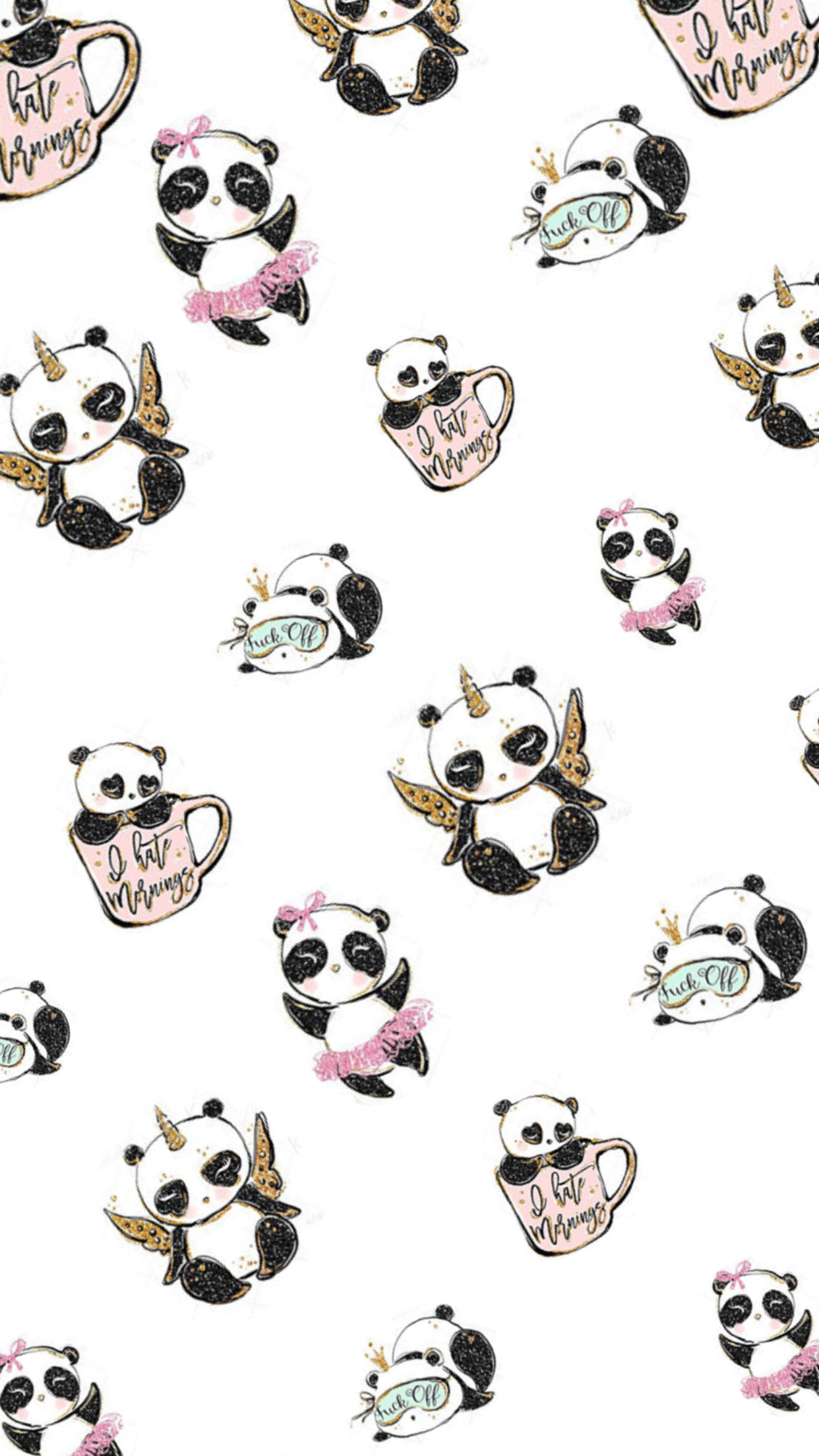 Pin by Kyra on Chibi Panda wallpapers, Cute wallpapers