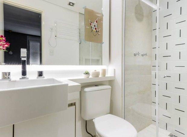 Marcenaria de baixo custo transforma apartamento pequeno for Banos ultramodernos