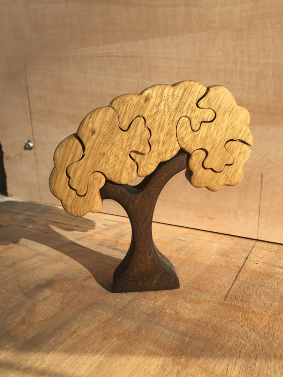 Wooden toy, Tree puzzle, wood puzzle, jigsaw puzzle ...