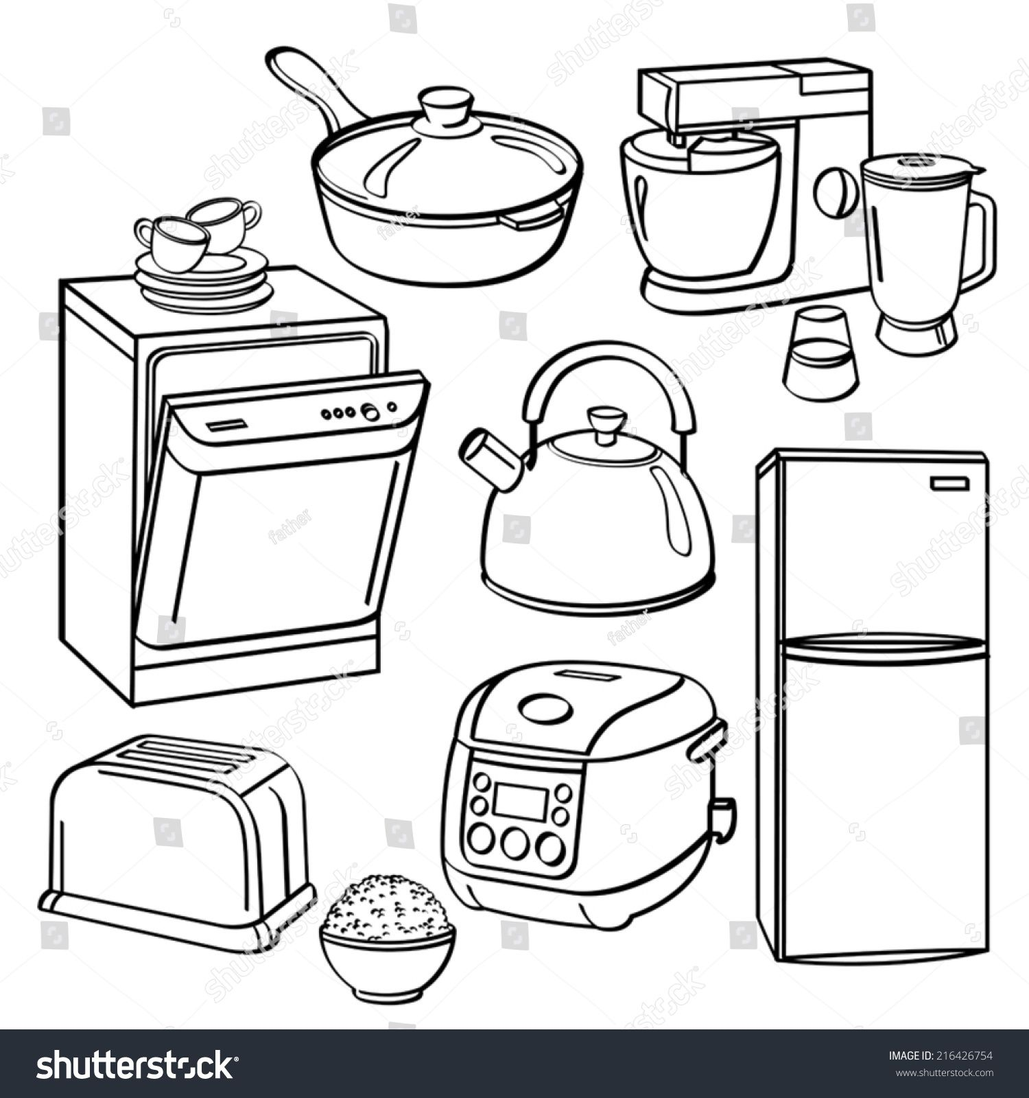 Kitchen Utensils And Appliances Ad Affiliate Kitchen Utensils Appliances Coloring Pages Easy Doodle Art Online Coloring Pages