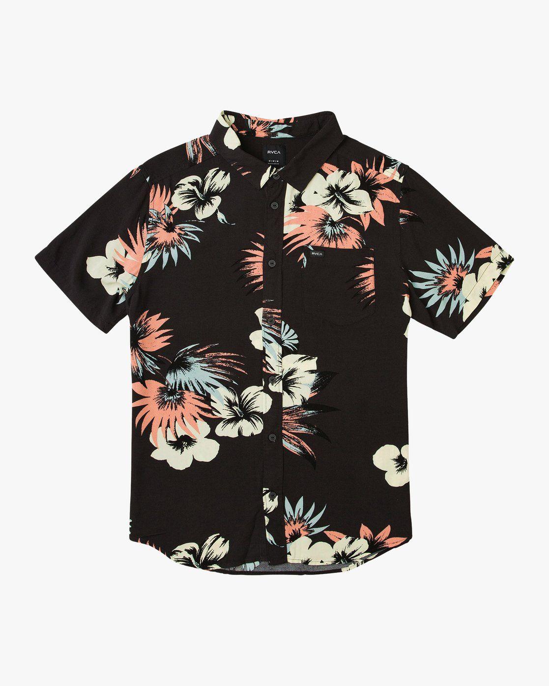 RVCA Mens Romeo Floral Button-Up Shirt