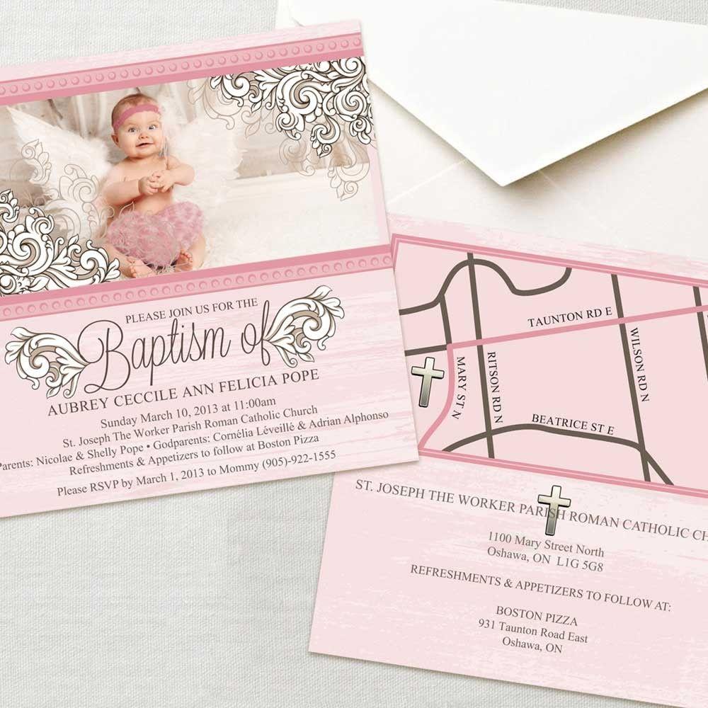 Angel Baptism Photo Invite Baptism Invites Pinterest