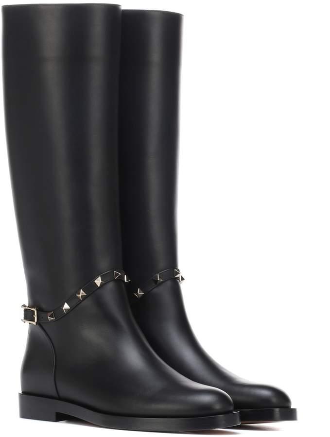 4fe173ff1cf74 Valentino Rockstud leather boots