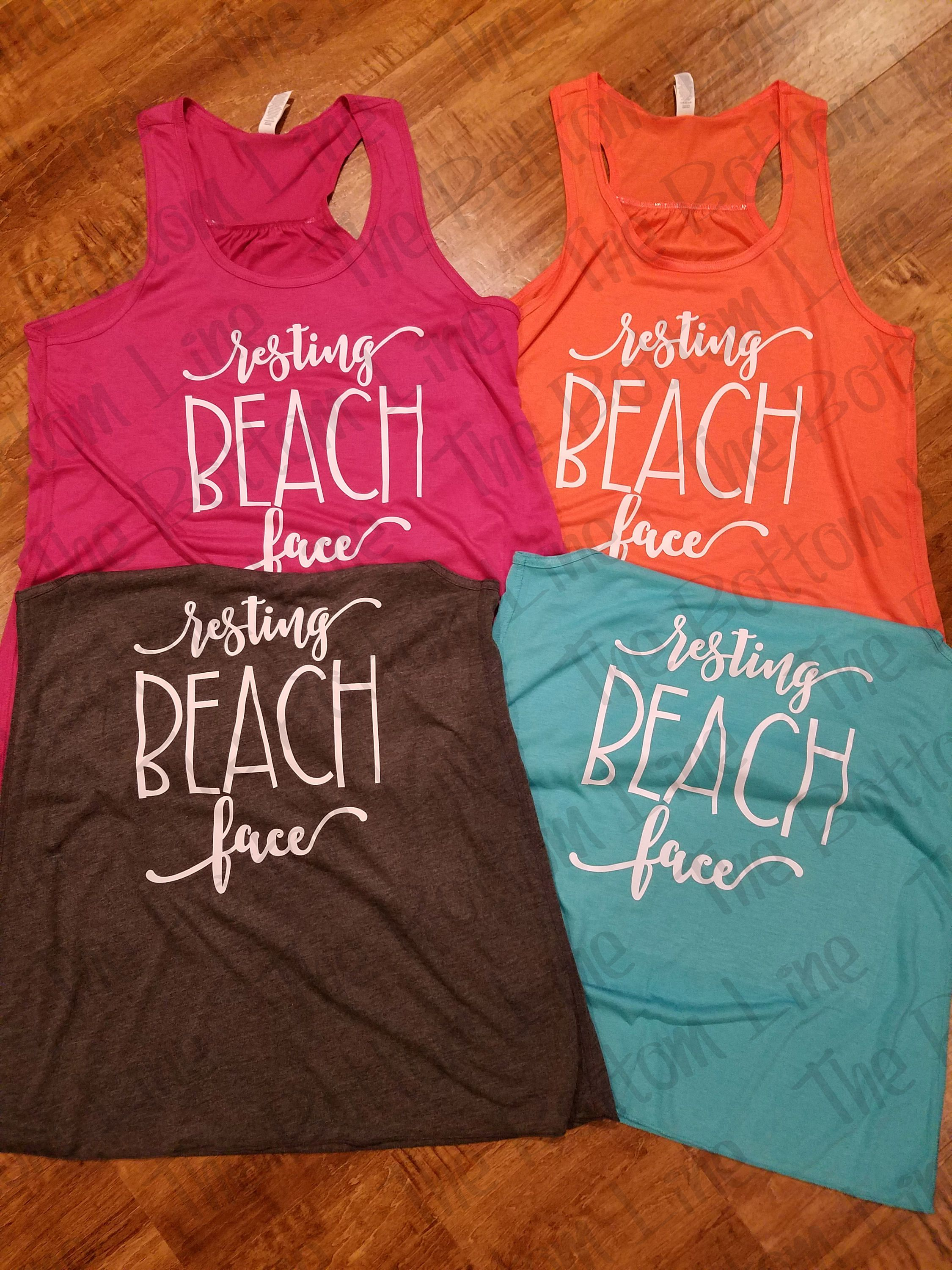 ddd12b1964138 Resting Beach Face Tank Top  Flowy Tank  Womens Funny Shirt  Party Tank  Summer  Top  Vacation Tank  Beach Shirt  Bachelorette Party by sheribottomline on  ...