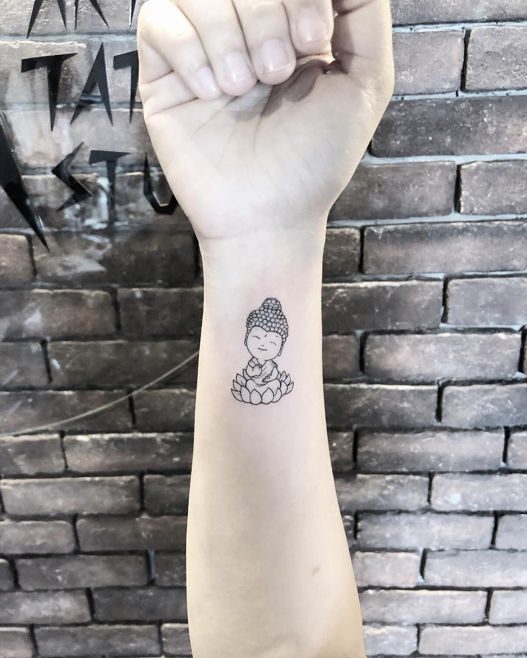 small Buddha #minitattoos tattoo #blacktattoomag # ...