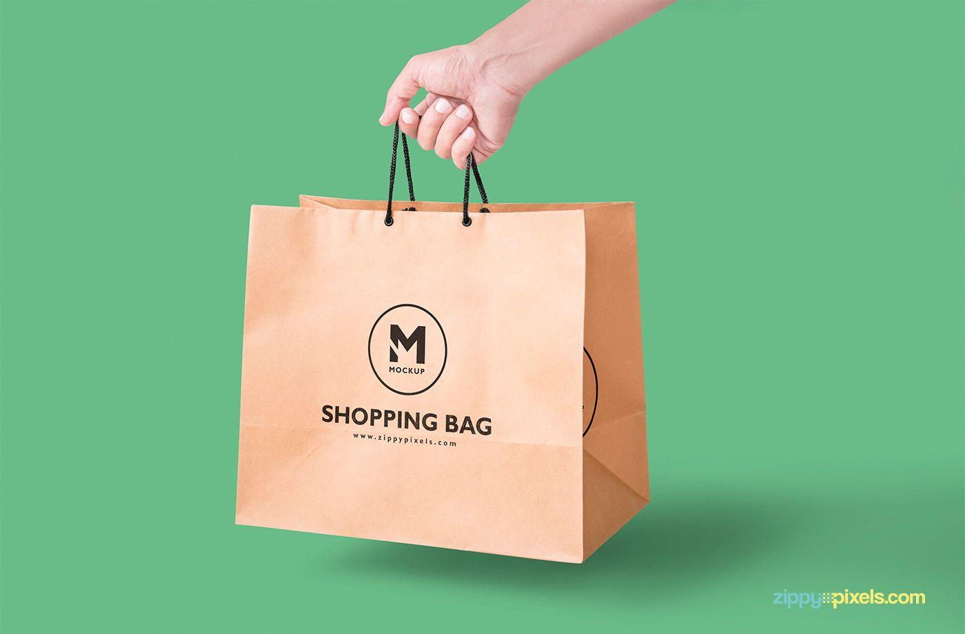 Download Free Handheld Paper Bag Mockup On Behance Bag Mockup Mockup Free Psd Mockup Free Psd Download