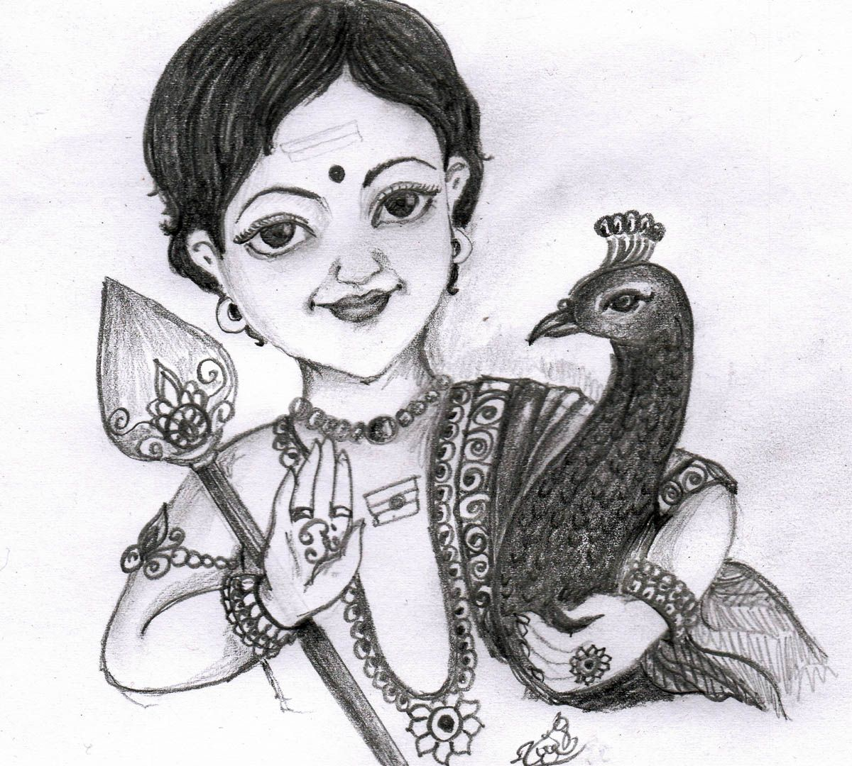 Pencil drawing of sree muruga sweet my cute crafts pencil
