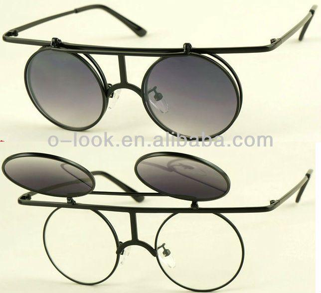 neue retro kostüm steampunk runden kreis hochklappen sonnenbrille klare linse-Bild-Sonnenbrille-Produkt ID:790016547-german.alibaba.com