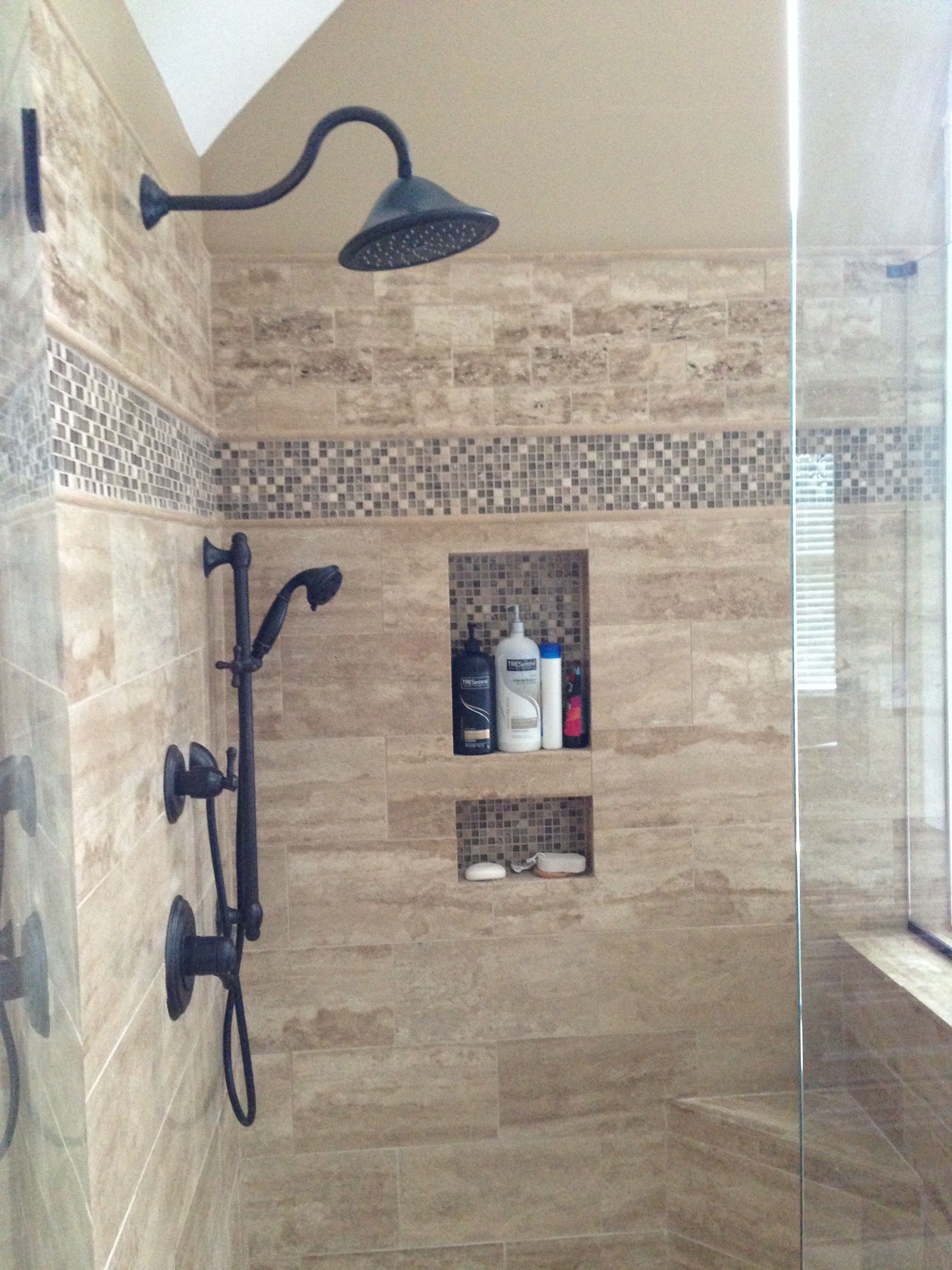 After Rain And Handheld Shower Heads Double Niches With Corner