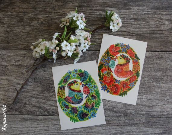 Easter birds art gifts postcard greeting cards kupavaart my easter birds art gifts postcard greeting cards kupavaart negle Images