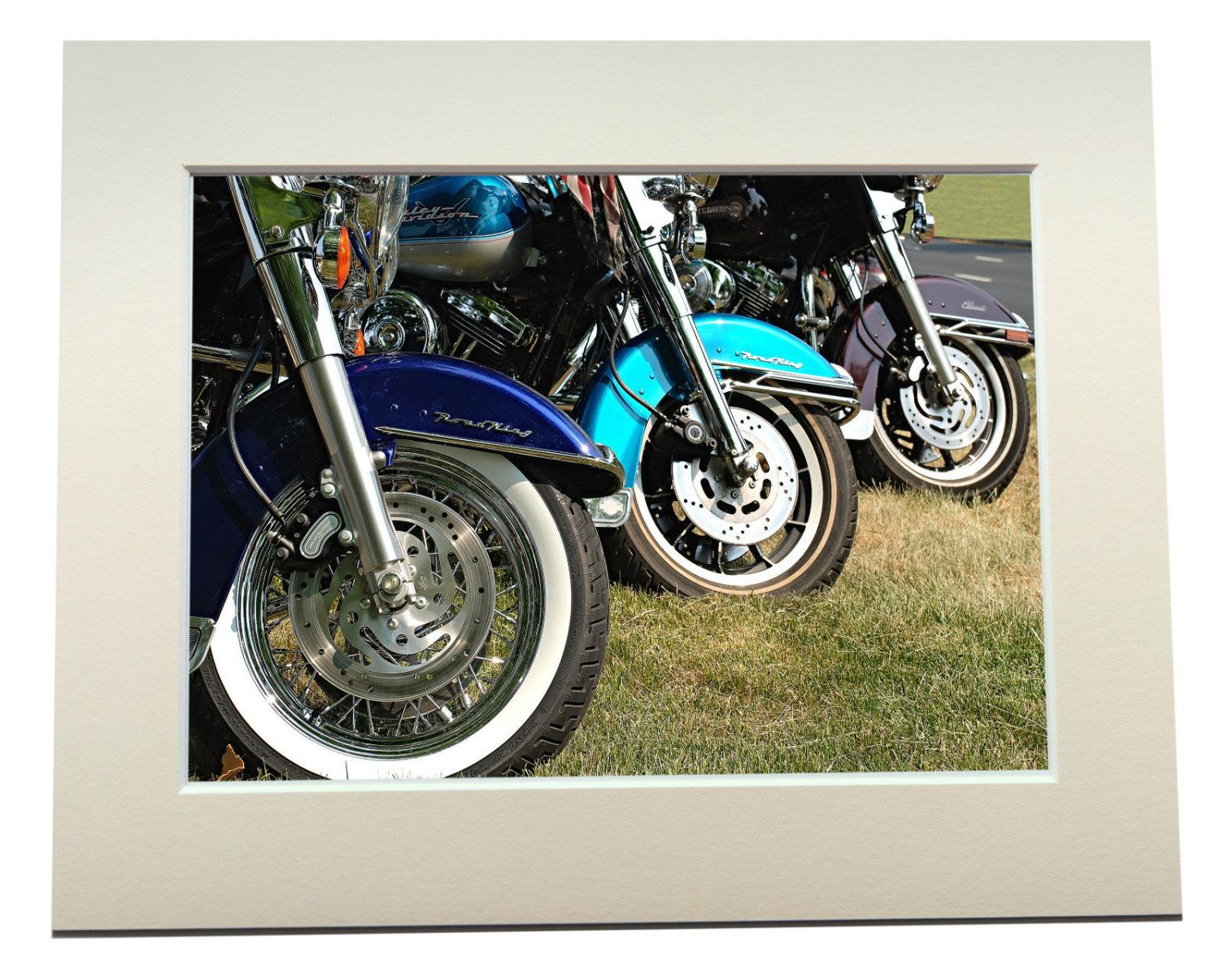 Harley Davidson Motorcycles Photographic Print Signed Limited Edition Mounted by TimeToCreateCrafts on Etsy