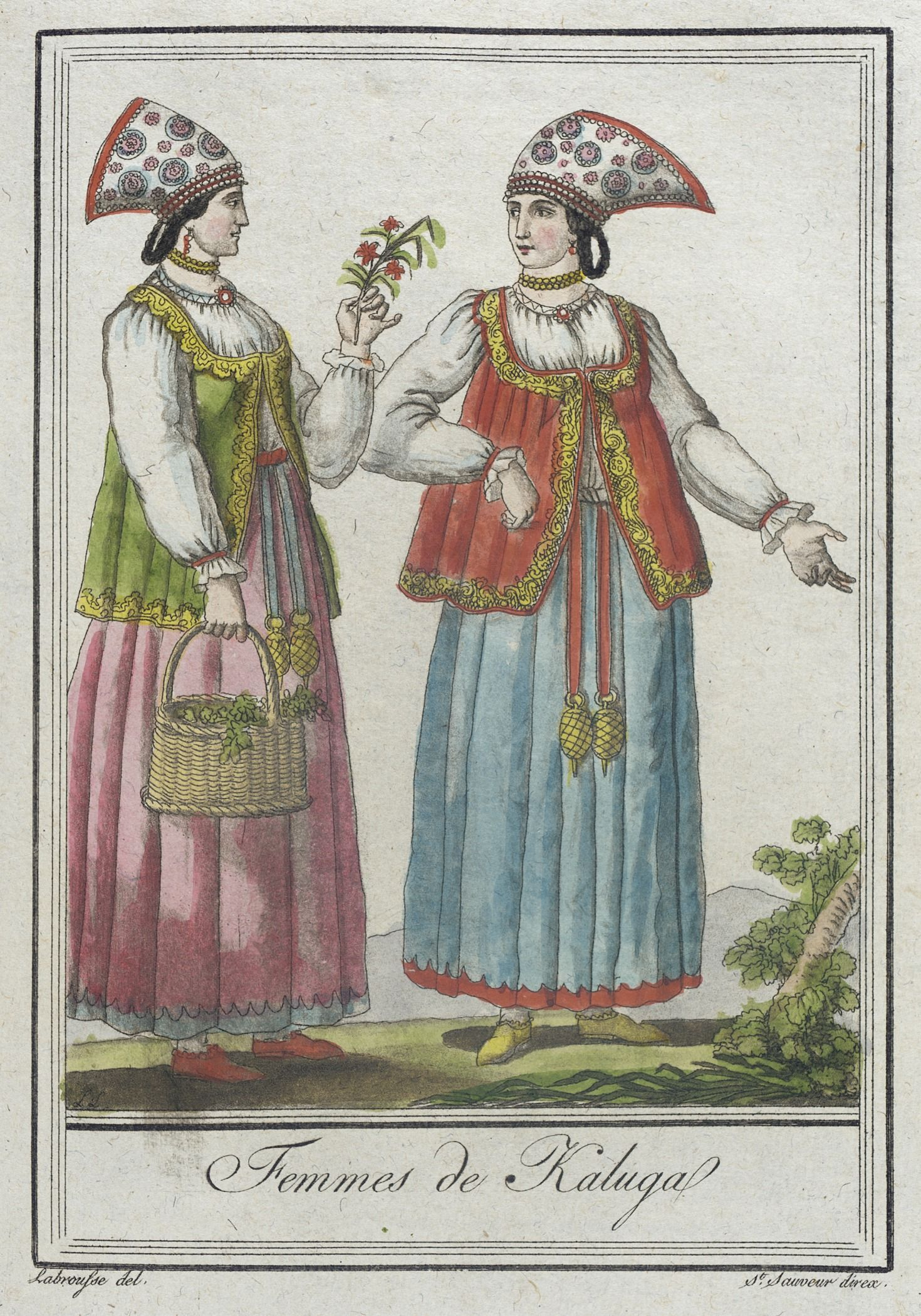 Открытки с русско народными костюмами