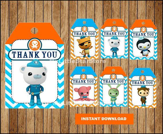Octonauts Thank You Tags Printable Octonauts Tags Octonauts