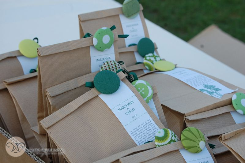 green wedding along the river wedding favour