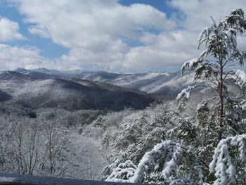 Nestled Inn In Gatlinburg, Tennessee: Winter Smoky Mountains View