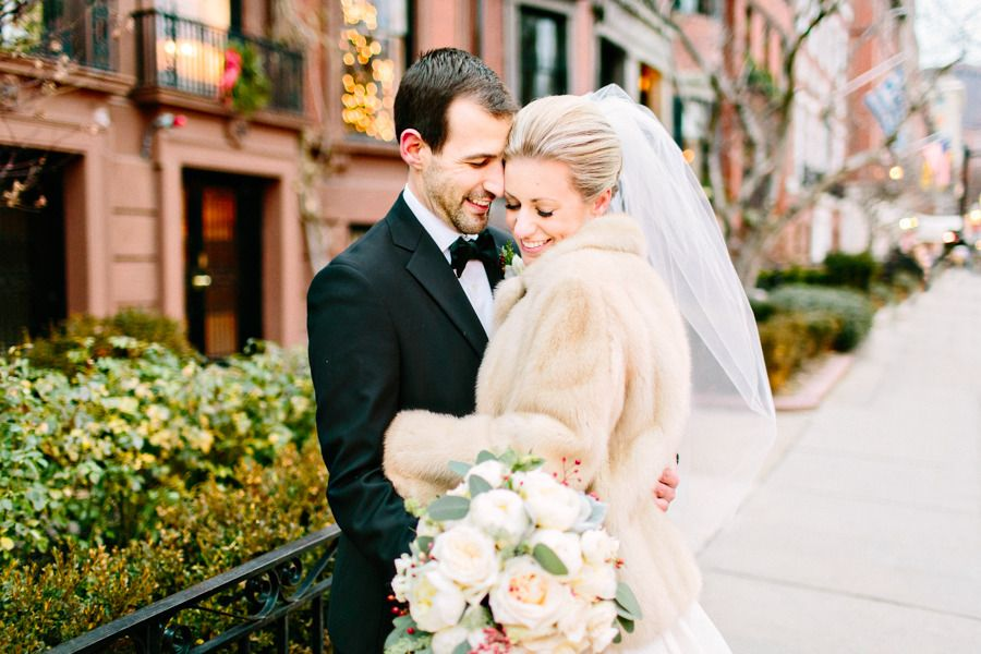 Elegant Winter Boston State Room Wedding