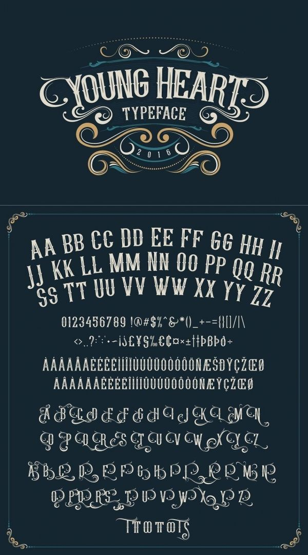 Young Heart Typeface Lettering Alphabet Fonts Lettering Fonts Lettering Alphabet