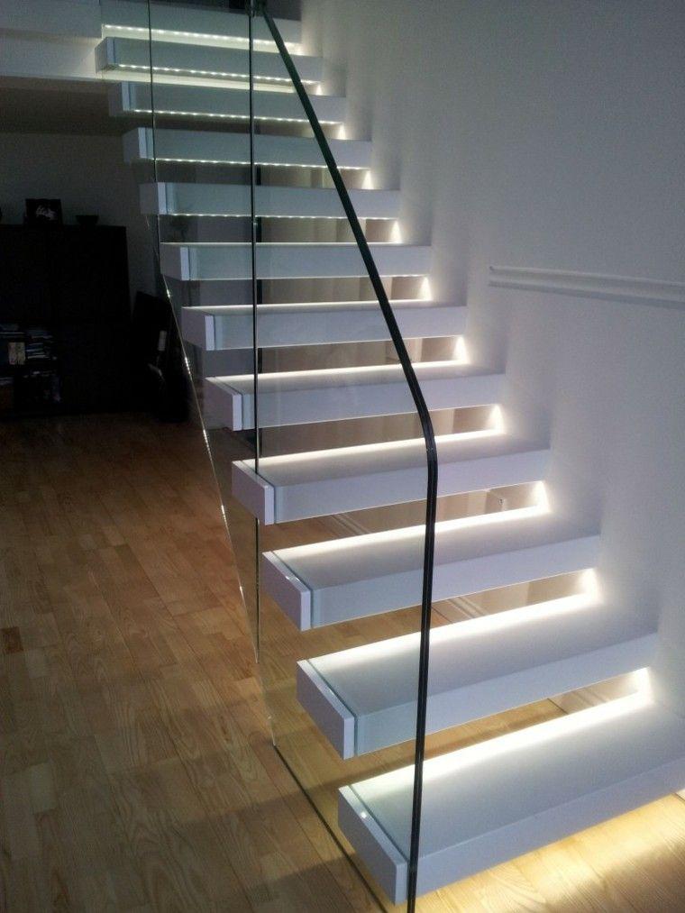 Escaleras de interior y exterior con iluminaci n led iluminaci n apartacho stairs lighting - Iluminacion de escaleras ...